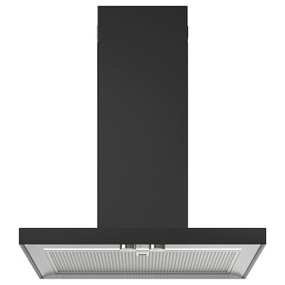 MATÄLSKARE Cappa da fissare alla parete, nero, 60 cm