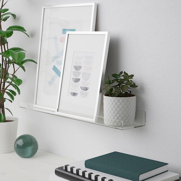MELLÖSA Mensola per quadri, trasparente, 60 cm