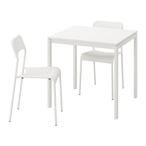 Le Sedie Di Ikea.Melltorp Adde Tavolo E 2 Sedie Bianco