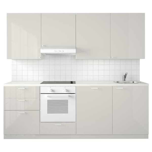 Cucina METOD bianco Maximera, Ringhult grigio chiaro