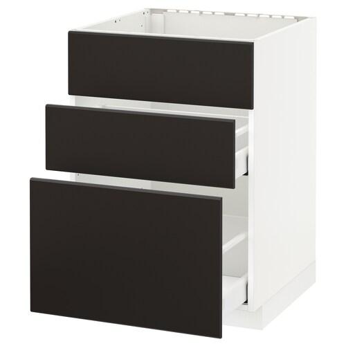 IKEA METOD / MAXIMERA Mobile lavello/3frontali/2cassetti