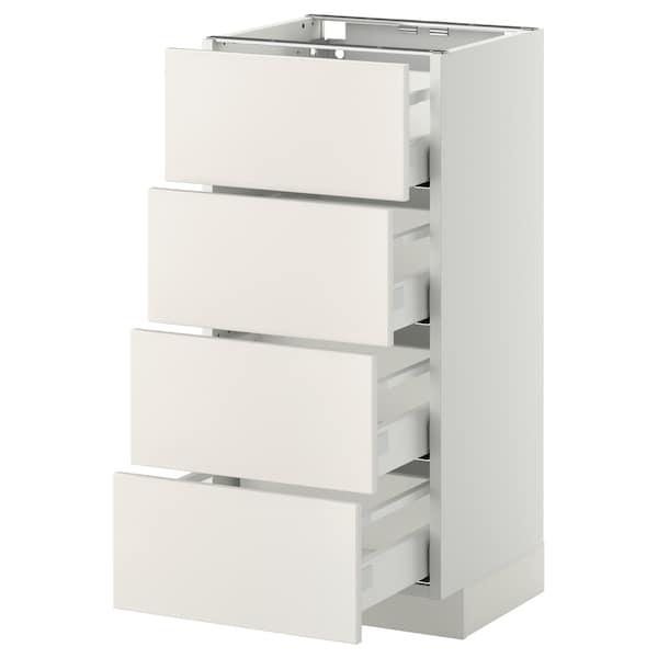 METOD / MAXIMERA Mobile/4 frontali/4 cassetti, bianco/Veddinge bianco, 40x37 cm