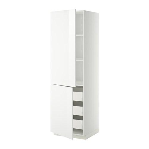 Mobile alto/ripiani/3cassetti/2ante - bianco, Ringhult lucido bianco ...