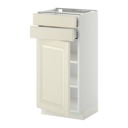 METOD / MAXIMERA Mobile base con anta/2 cassetti - Bodbyn bianco ...