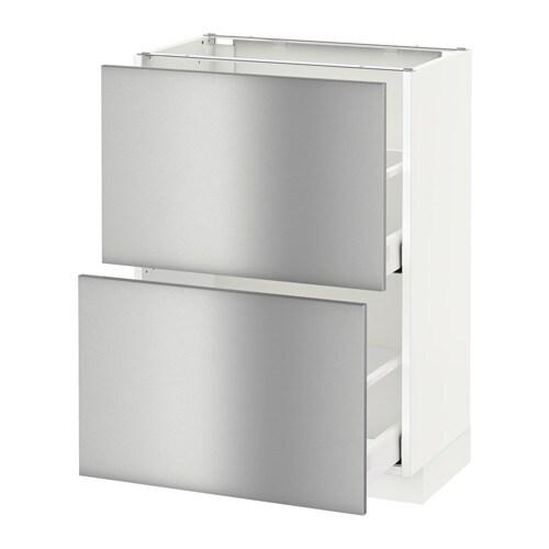METOD / MAXIMERA Mobile base con 2 cassetti - Grevsta inox, 60x37 cm ...