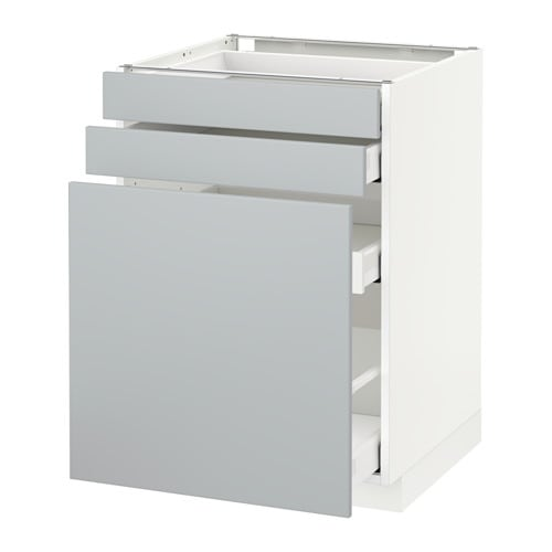 Metod maximera mobile cestelli dispensa 2 frontali bianco veddinge grigio 60x60 cm ikea - Ikea mobile dispensa ...