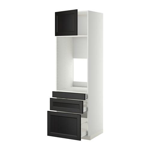Metod maximera mobile forno doppio 3 cassetti anta laxarby marrone nero 60x60x200 cm ikea - Mobile da incasso forno ikea ...