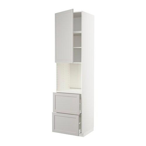 METOD / MAXIMERA Mobile per forno + anta/2 cassetti - IKEA