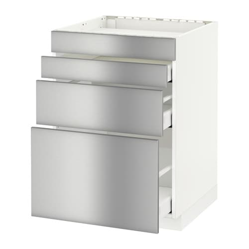 Metod maximera mobile piano cottura 4front 3cass grevsta inox 60x60 cm ikea - Mobile piano cottura ...
