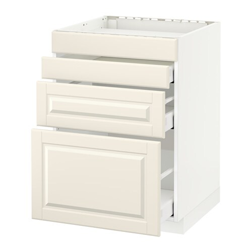 METOD / MAXIMERA Mobile piano cottura/4front/3cass - Bodbyn bianco ...