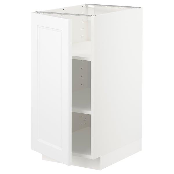 METOD Mobile base con ripiani, bianco/Axstad bianco opaco, 40x60 cm