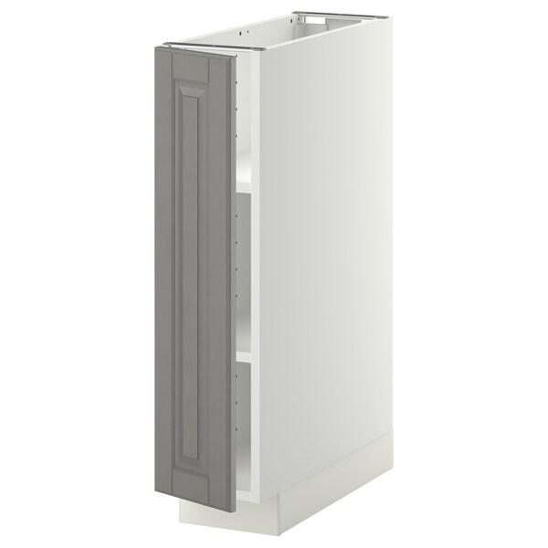 METOD Mobile base con ripiani, bianco/Bodbyn grigio, 20x60 cm