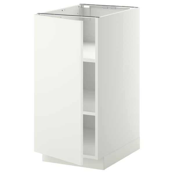 METOD Mobile base con ripiani, bianco/Häggeby bianco, 40x60 cm