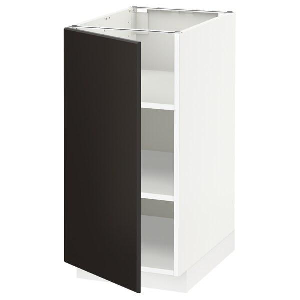 METOD Mobile base con ripiani, bianco/Kungsbacka antracite, 40x60 cm