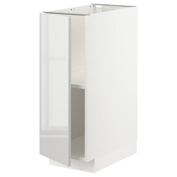 METOD Mobile base con ripiani, bianco/Ringhult grigio chiaro, 30x60 cm