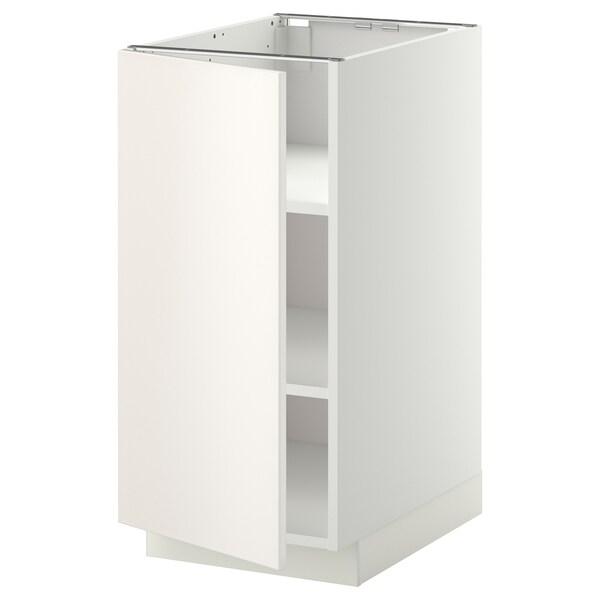 METOD Mobile base con ripiani, bianco/Veddinge bianco, 40x60 cm