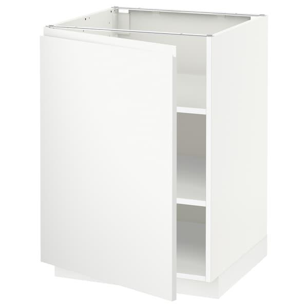 METOD Mobile base con ripiani, bianco/Voxtorp bianco opaco, 60x60 cm
