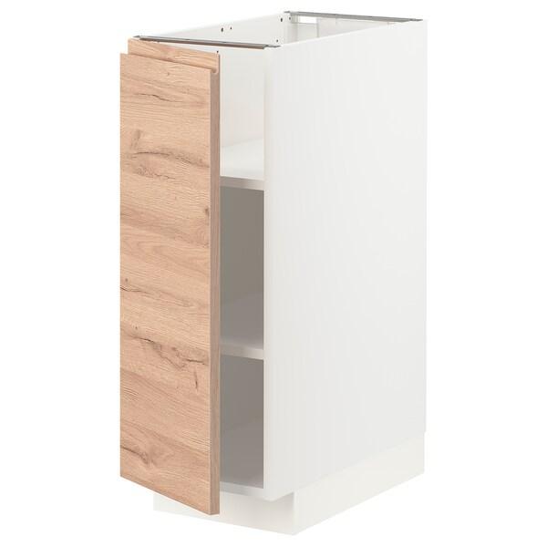 METOD Mobile base con ripiani, bianco/Voxtorp effetto rovere, 30x60 cm