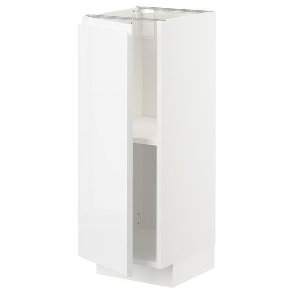 METOD Mobile base con ripiani, bianco/Voxtorp lucido/bianco, 30x37 cm