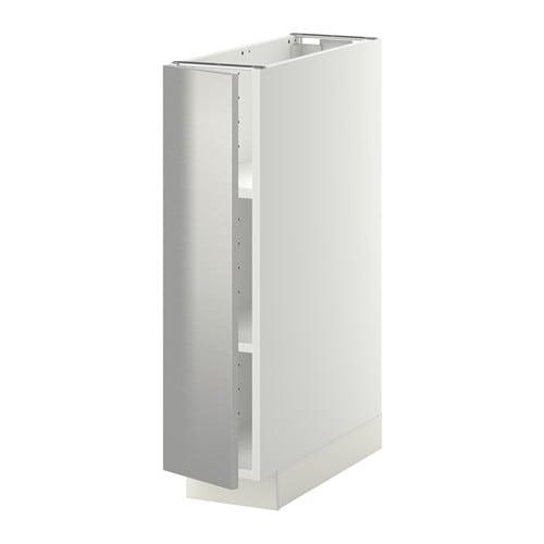 METOD Mobile base con ripiani - Grevsta inox, 20x60 cm - IKEA