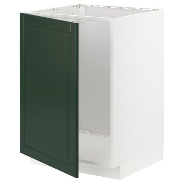 METOD Mobile base per lavello, bianco/Bodbyn verde scuro, 60x60 cm