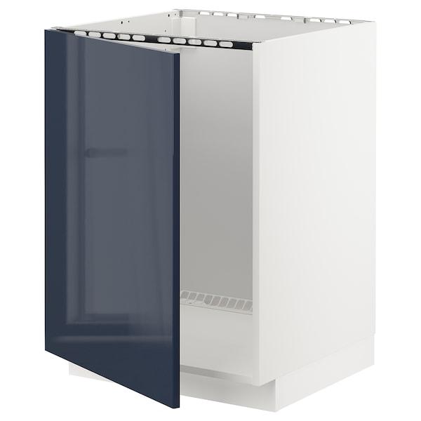 METOD Mobile base per lavello, bianco/Järsta blu-nero, 60x60 cm