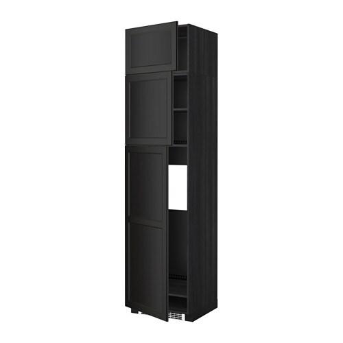 Metod mobile frigo 3 ante effetto legno nero laxarby - Mobile frigo incasso ...