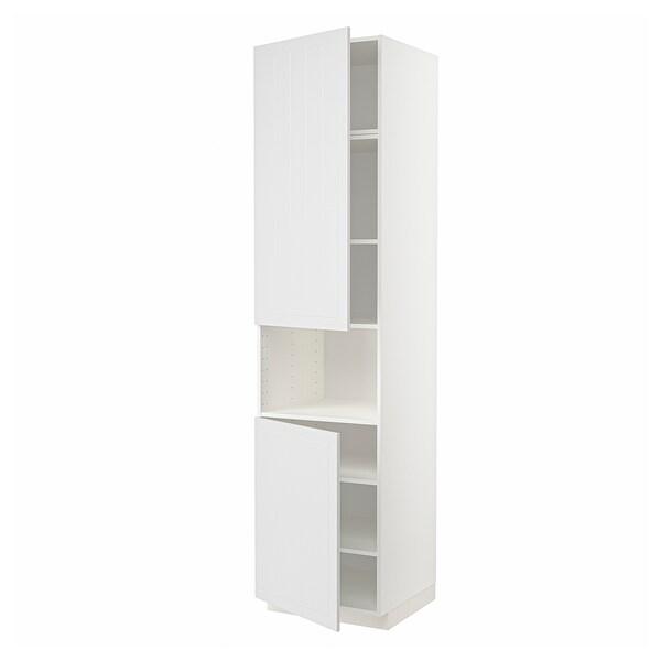 METOD Mobile microonde, 2 ante/ripiani, bianco/Stensund bianco, 60x60x240 cm