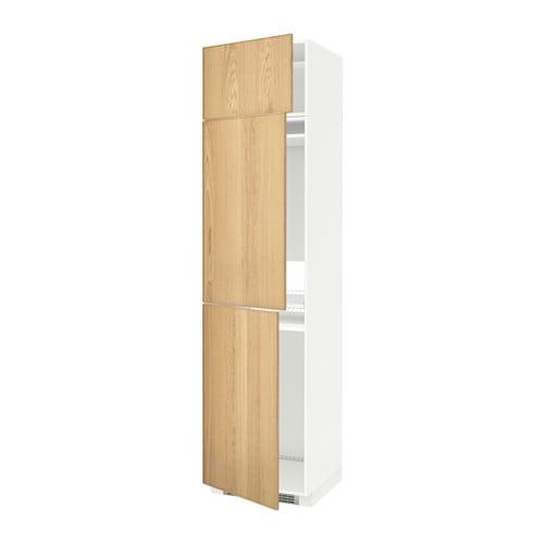 Metod mobile per frigo congelatore 3 ante ekestad rovere - Mobile frigo incasso ...