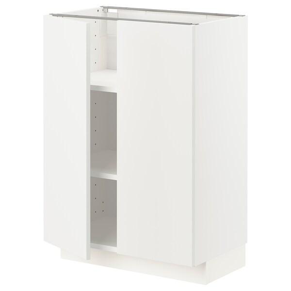 METOD Mobile/ripiano/2 ante, bianco/Häggeby bianco, 60x37 cm