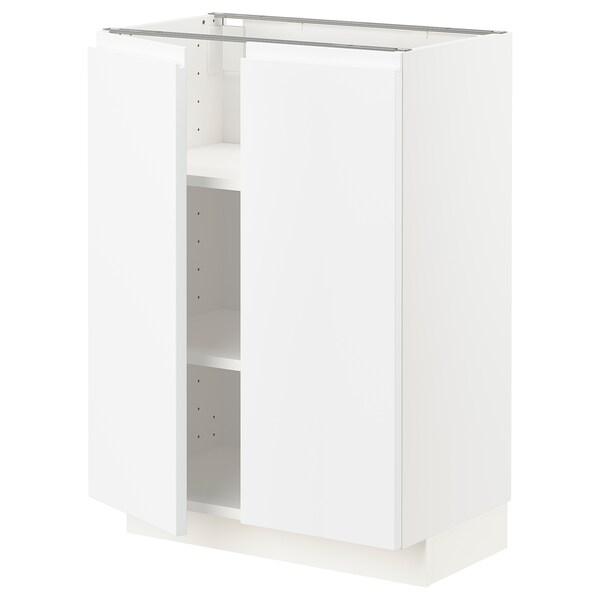 METOD Mobile/ripiano/2 ante, bianco/Voxtorp bianco opaco, 60x37 cm