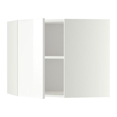 METOD Pensile angolare con ripiani - Ringhult lucido bianco, 68x60 ...