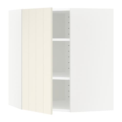 METOD Pensile angolare con ripiani - Hittarp bianco sporco, 68x80 cm ...