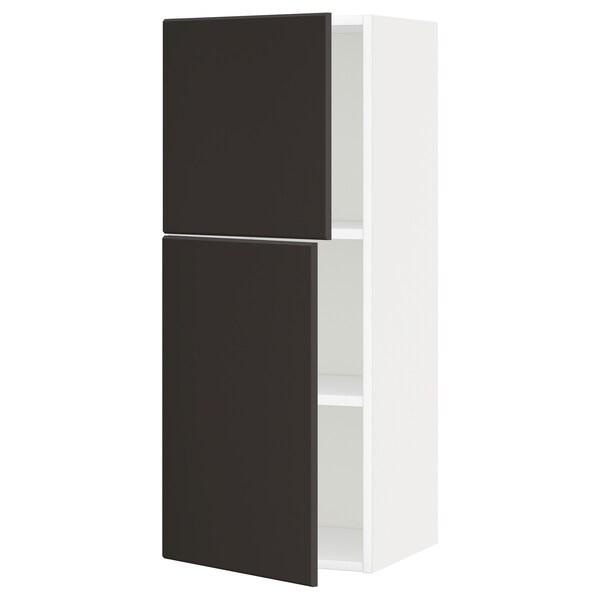 METOD Pensile con ripiani/2 ante, bianco/Kungsbacka antracite, 40x100 cm