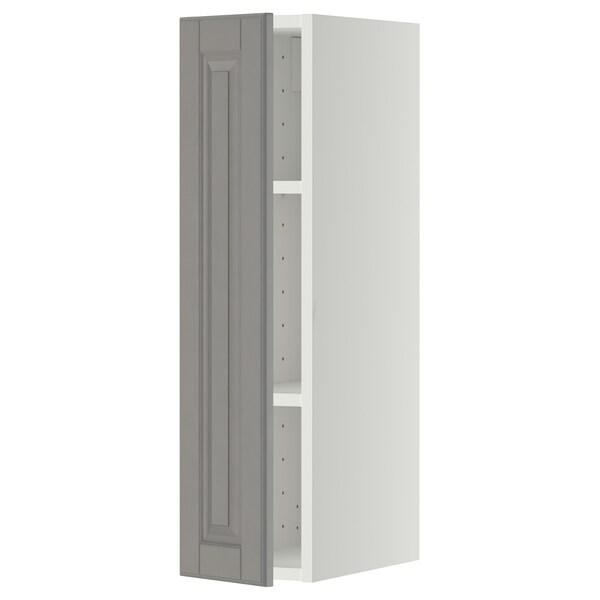 METOD Pensile con ripiani, bianco/Bodbyn grigio, 20x80 cm