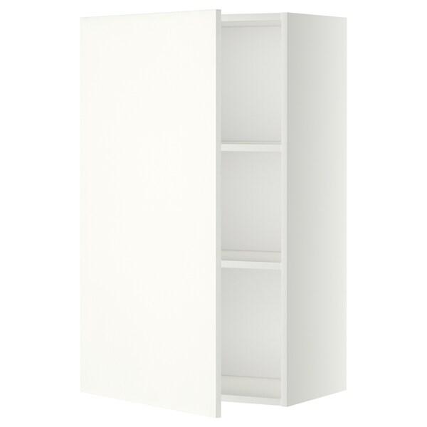 METOD Pensile con ripiani, bianco/Häggeby bianco, 60x100 cm