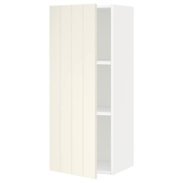 METOD Pensile con ripiani, bianco/Hittarp bianco sporco, 40x100 cm