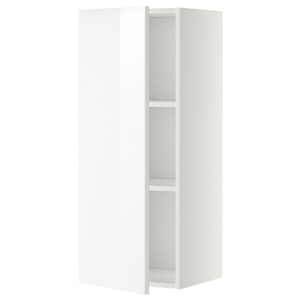 METOD Pensile con ripiani, bianco/Ringhult bianco, 40x100 cm