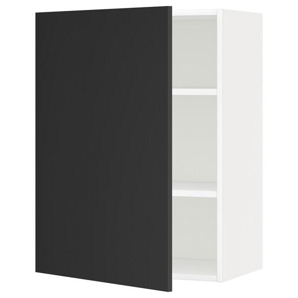 METOD Pensile con ripiani, bianco/Uddevalla antracite, 60x80 cm