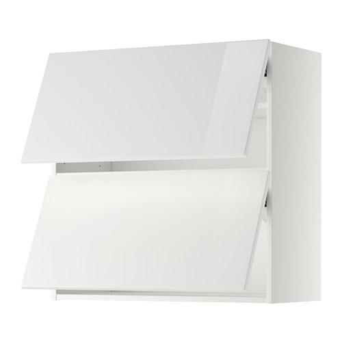 Metod pensile orizzontale con 2 ante ringhult lucido bianco 80x80 cm ikea - Pensile bagno orizzontale ...