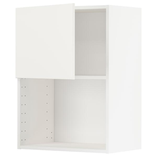 METOD Pensile per forno a microonde, bianco/Häggeby bianco, 60x80 cm