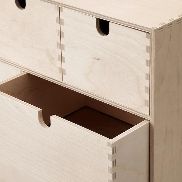 MOPPE Minicassettiera, compensato di betulla, 42x18x32 cm