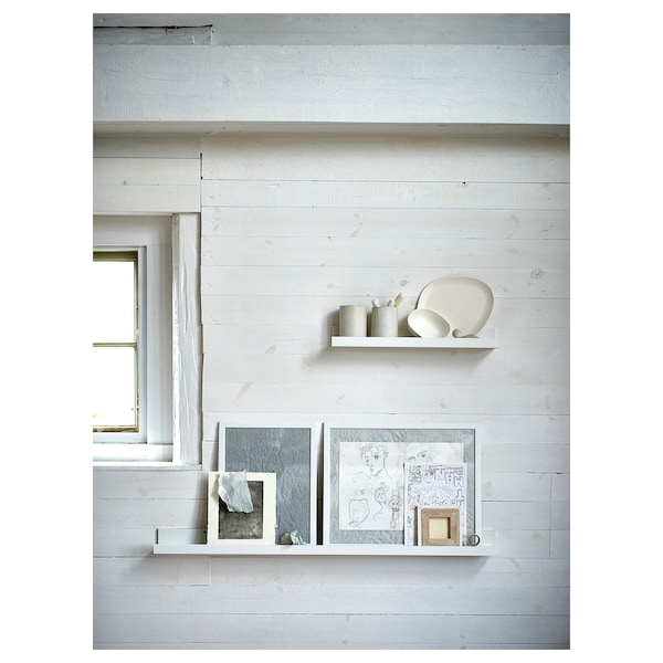 MOSSLANDA Mensola per quadri, bianco, 115 cm