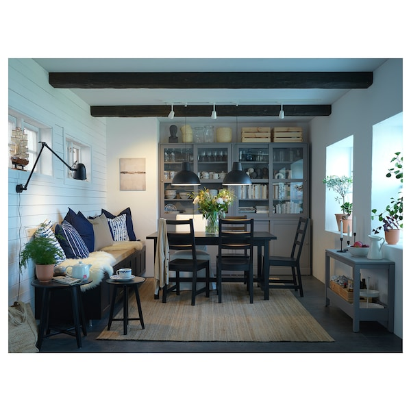 NORDVIKEN tavolo allungabile nero 152 cm 223 cm 95 cm 75 cm