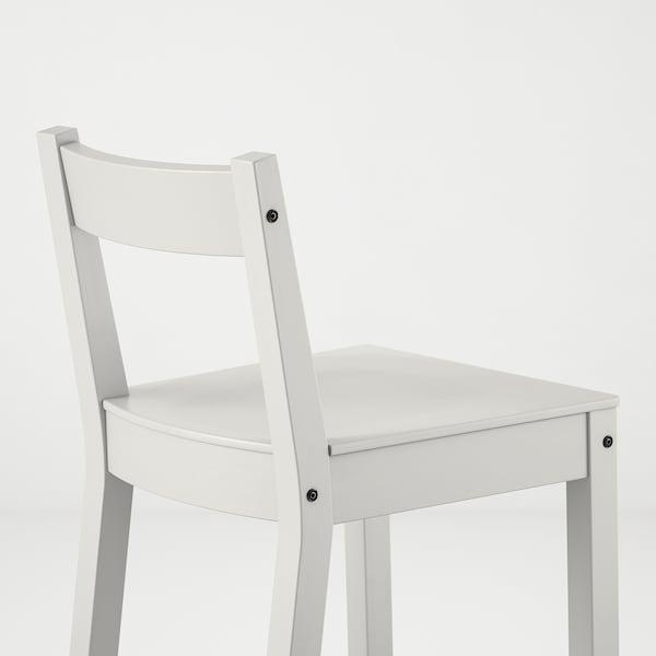 NORDVIKEN Sgabello bar con schienale, bianco, 75 cm