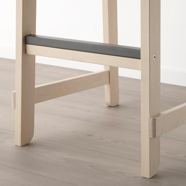 NORRÅKER Sgabello bar con schienale, betulla, 74 cm