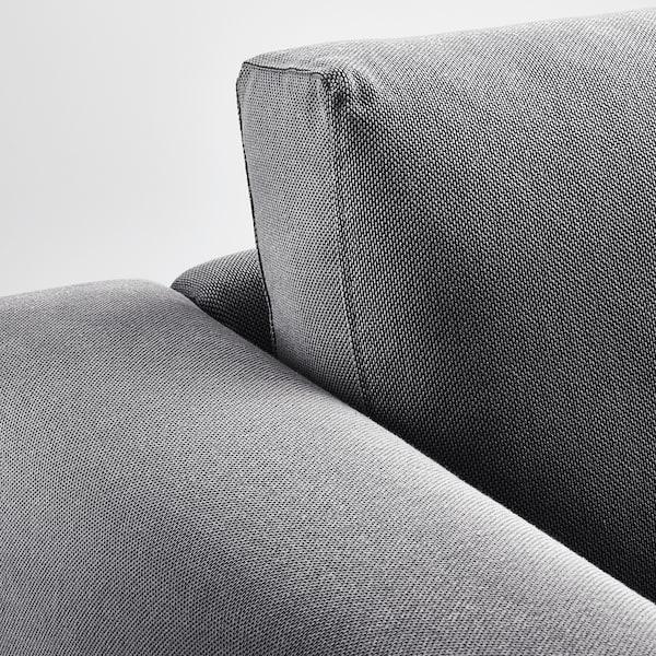 NORSBORG Chaise-longue, Finnsta grigio scuro/betulla