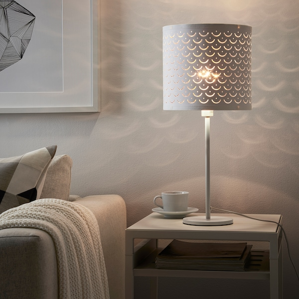 NYMÖ Paralume, bianco/color ottone, 24 cm