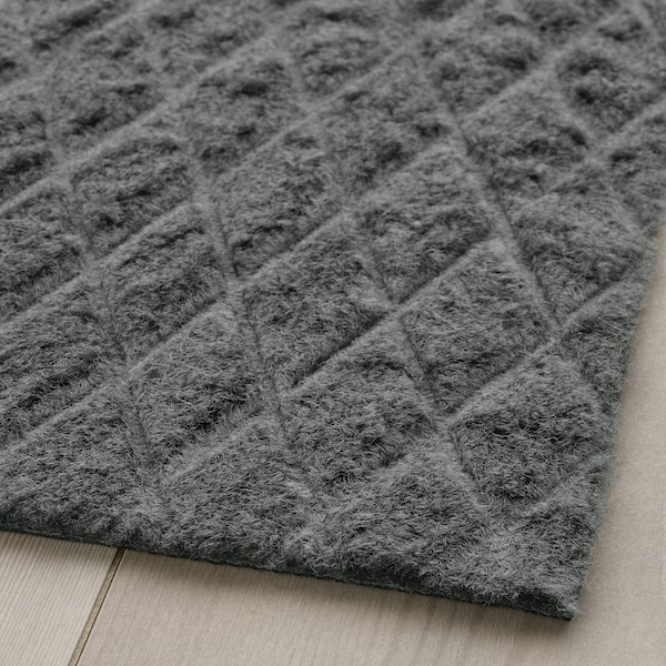 ÖSTERILD Zerbino, da interno, grigio scuro, 60x90 cm