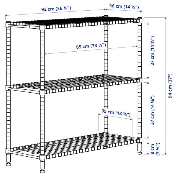 OMAR Scaffale, galvanizzato, 92x36x94 cm